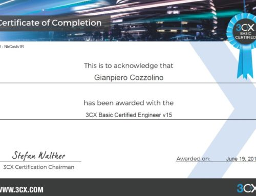 3CX Basic Certified Engineer v15 certification