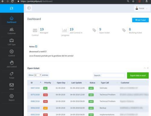 Nasce Pi-Portal il portale per la gestione dei Vs. servizi